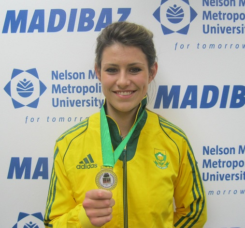 NMMU student and hammer throw specialist Mieke Stander has been selected to represent South Africa at the 17th annual Cucsa Games in Zambia in August. Photo: Supplied