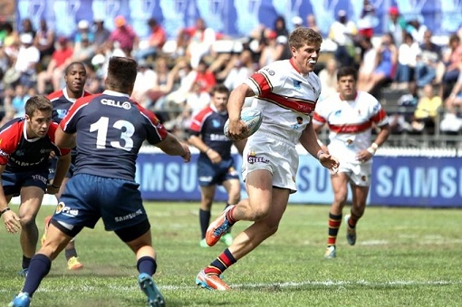 The Madibaz, seen here in action against Tuks at the Varsity Sevens tournament, will compete in the University Sport South Africa rugby sevens tournament at the NMMU George Campus on December 1 and 2. Photo: Varsity Sport