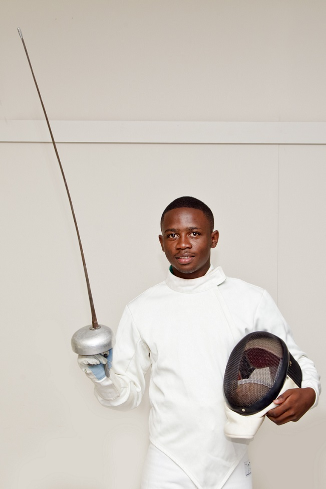 NMMU's top fencer Xabiso Nyati will take part in the first ever national ranking competition in the Eastern Cape. NMMU's Missionvale campus will host the event from August 21 to 23. Photo: Michael Sheehan