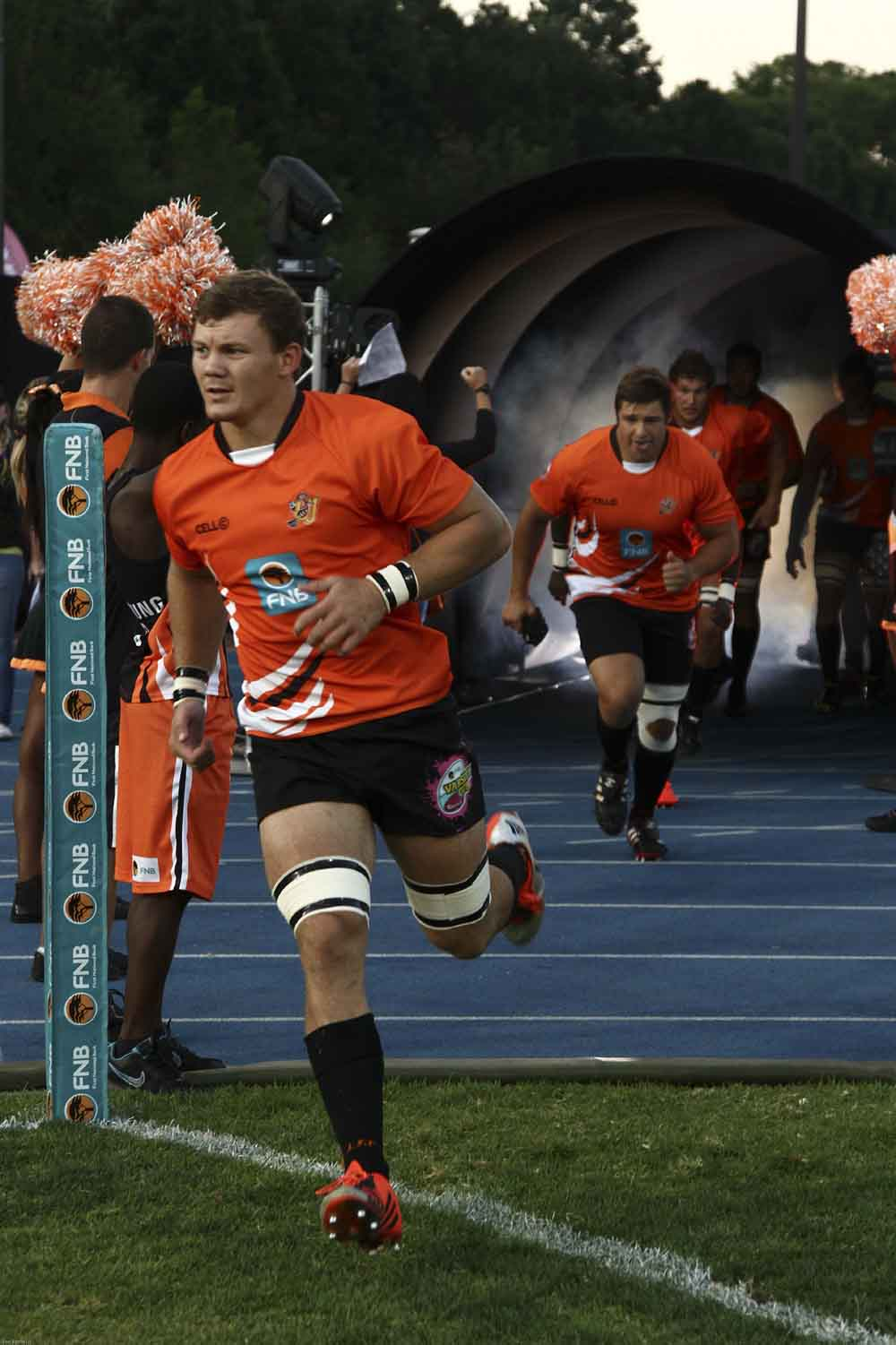 Captain Kobus Porter (left) will lead the University of Johannesburg rugby team onto the field for a second year running in the 2016 FNB Varsity Cup tournament. Photo: Supplied