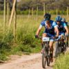 Special race village for Varsity mountain bike cyclists