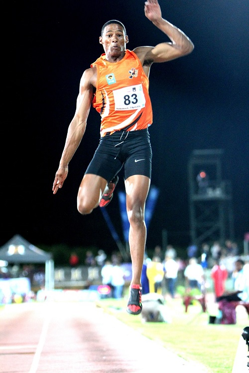 University of Johannesburg long jumper Ruswahl Samaai has reached new heights with a bronze medal at the IAAF World Championships in London. Photo: Saspa