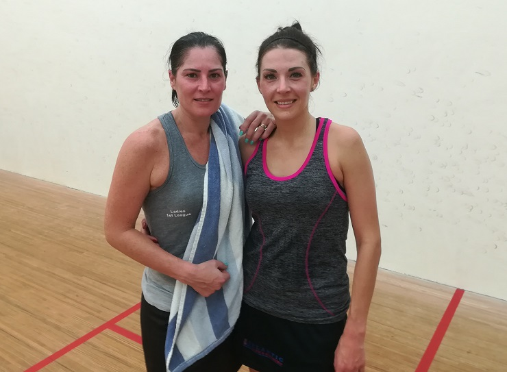 Lizelle Muller and Jacqui Ryder Madibaz Open Squash