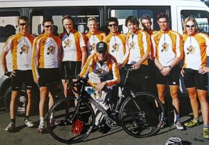 The University of Johannesburg's 2005 cycling team, featuring Tour de France favourite Chris Froome (third from left). This year's squad will draw inspiration from him when they compete at the national student championships in Port Elizabeth this week. Photo: Supplied