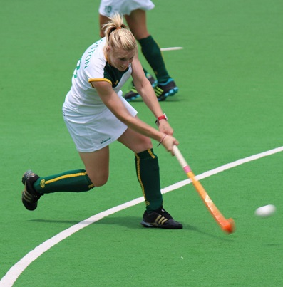 South African hockey player Bernadette Coston won both the Sportswoman of the Year and Student-Athlete of the Year titles at the University of Johannesburg Sports Awards on Thursday night. Photo: Supplied