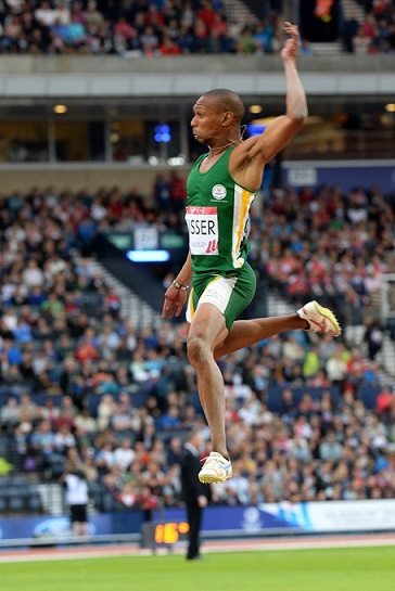 Commonwealth Games silver medallist and African long-jump champion Zarck Visser leapt to a second straight victory in the Sportsman of the Year category at the University of Johannesburg Sports Awards on Thursday night. Photo: Wessel Oosthuizen/Saspa