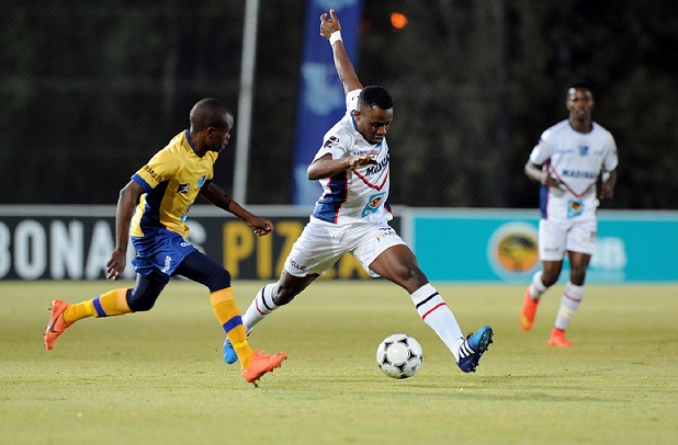 Madibaz forward Cloudius Sagandira goes on the attack against Wits in the second round of the Varsity Football tournament in Johannesburg on Monday night. The visitors went down 1-0 to the home side. Photo: SASPA