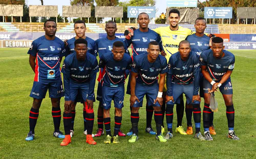 The NMMU Madibaz football teams won both the premier and premier reserve divisions of the Pefa League earlier this month. Pictured here is the side that participated in the 2015 Varsity Football tournament. Photo: Saspa