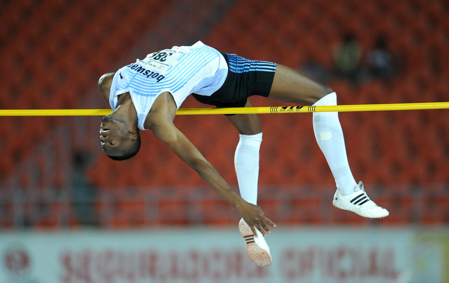 UJ student Kabelo Kgosiemang took gold in the high jump for Botswana at the African Games in September. Photo: Supplied