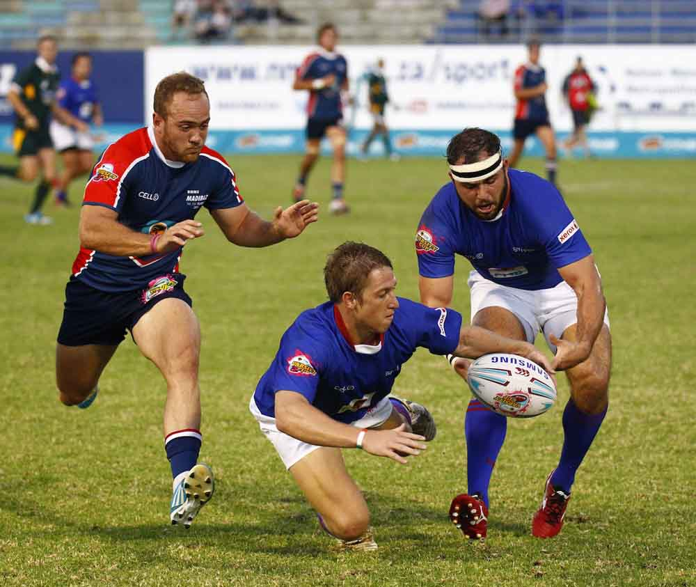 Madibaz skipper Ivan Ludick (left), pictured here in a Varsity Cup match, is quietly confident going into the new season. Photo: Saspa