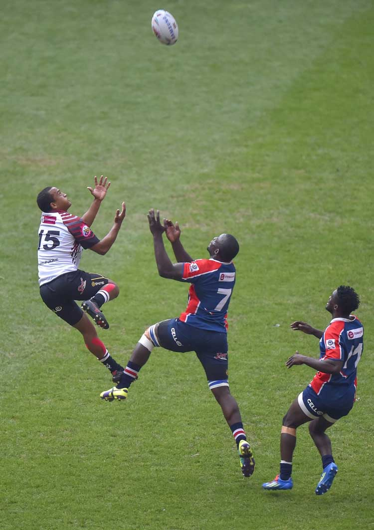 NMMU-Madibaz's Kevin Kaba in action in the Varsity Cup match against Pukke. Photo: Saspa