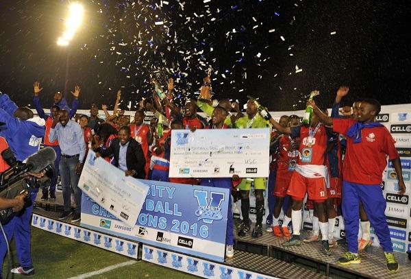 Tshwane University of Technology (TUT) claimed the 2016 Varsity Football title at the TUT Stadium yesterday. Photo: Catherine Kotze