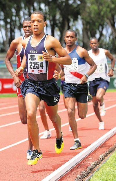 Bestmed Madibaz distance runner Mariano Eesou is hoping for a podium finish in the half marathon at the World Student Games in Taipei, Taiwan.
