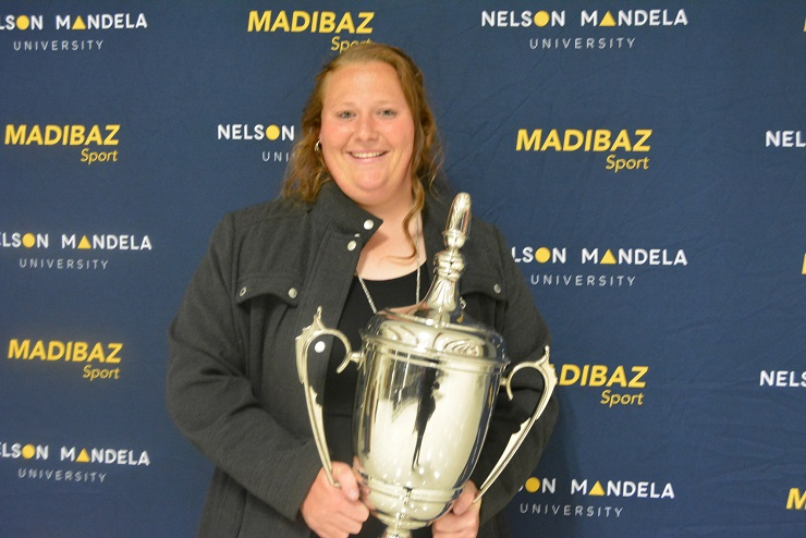 Nelson Mandela University athlete Ischke Senekal was named Sportswoman of the Year at the Madibaz Sport gala awards