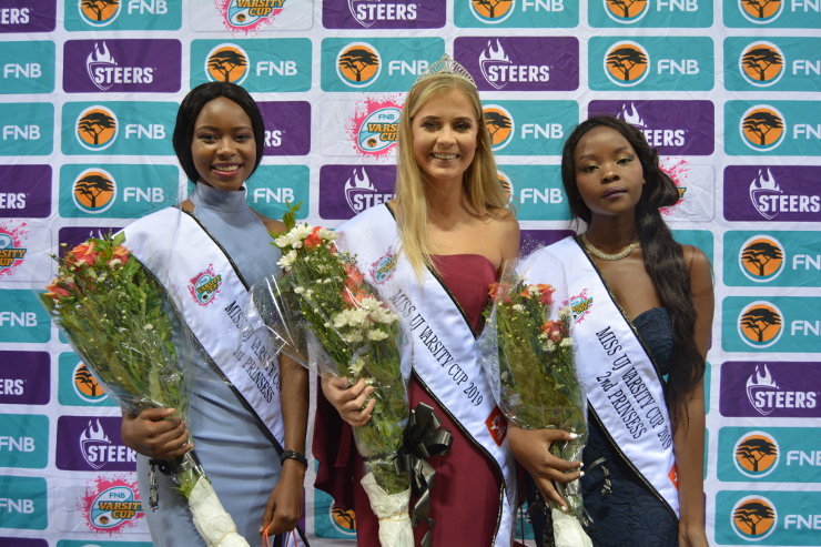 Miss UJ Varsity Cup top three 2019