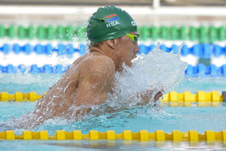 Madibaz swimmer Alaric Basson