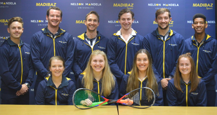 Madibaz USSA squash team