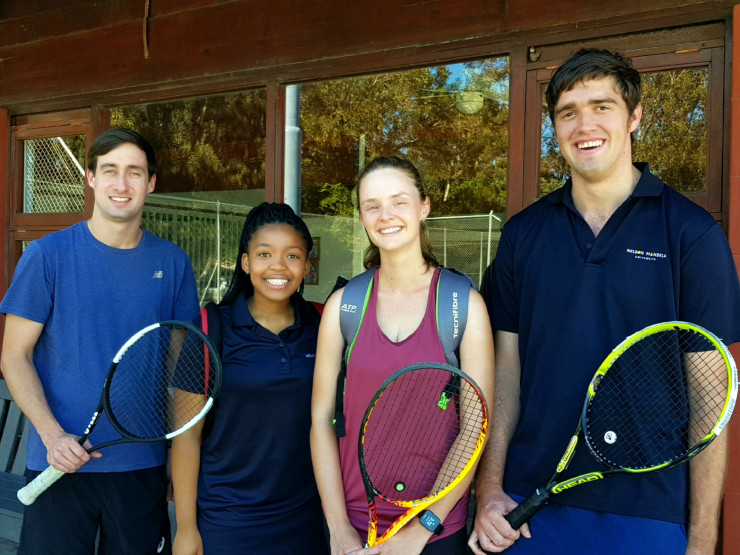 Part of the Madibaz squad which will compete in the University Sport South Africa tennis tournament