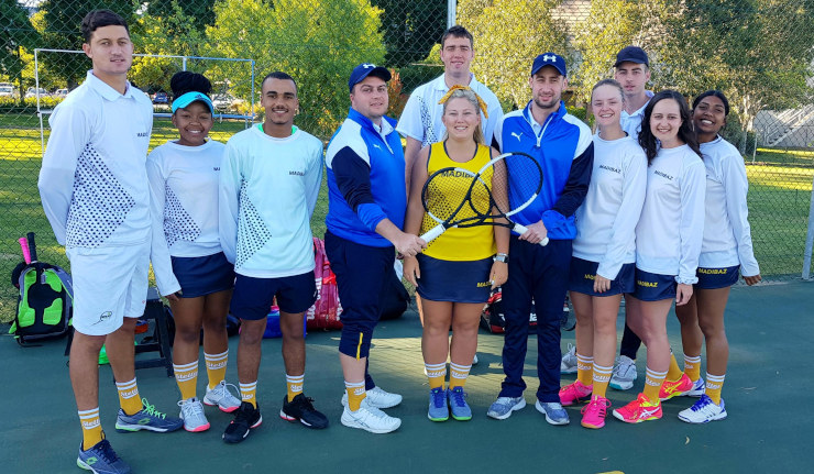 The Madibaz team which competed in the University Sport South Africa tennis tournament