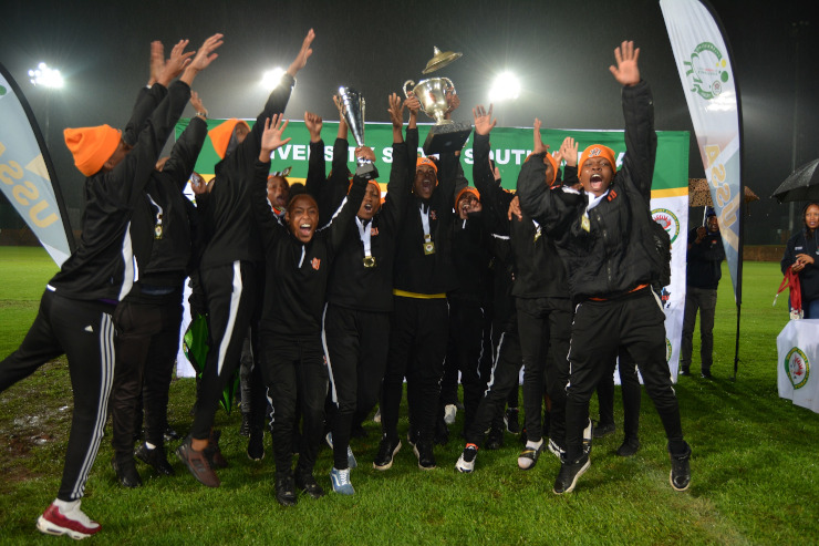 The University of Johannesburg women's soccer team won the University Sport South Africa title