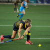 Madibaz player Hannah Knott-Craig in action in last year's Varsity Hockey competition. Student-athletes around the country currently find themselves in limbo due to the coronavirus pandemic lockdown.
