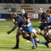 FNB Madibaz prop Tembelihle Yase goes on a run during a Varsity Shield rugby match this year. The Nelson Mandela University marketing graduate has withstood several challenges to succeed at academics and on the sports field during his varsity career.